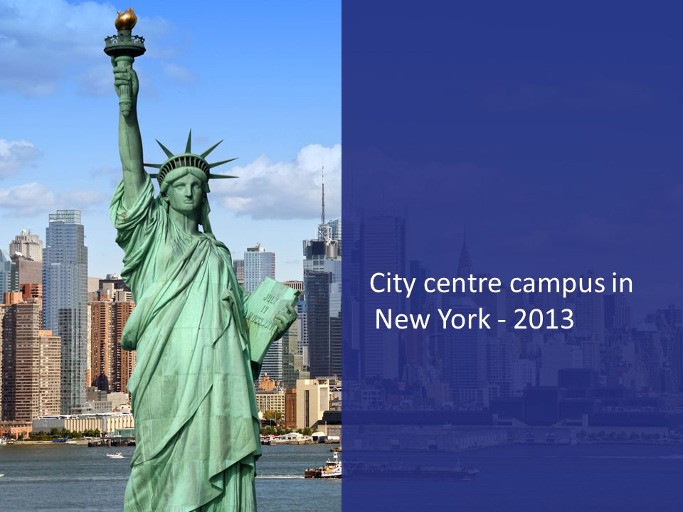 City centre campus in New York - 2013