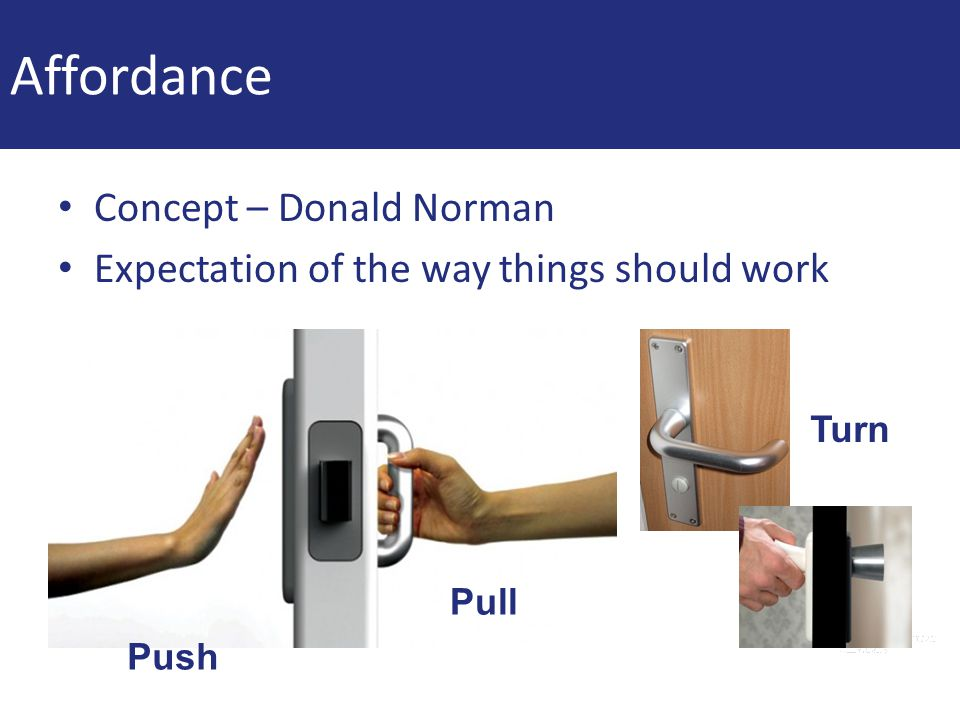 Affordance Concept – Donald Norman