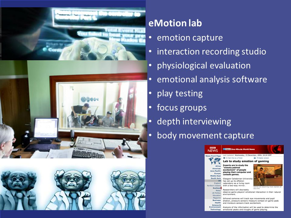 eMotion lab emotion capture interaction recording studio