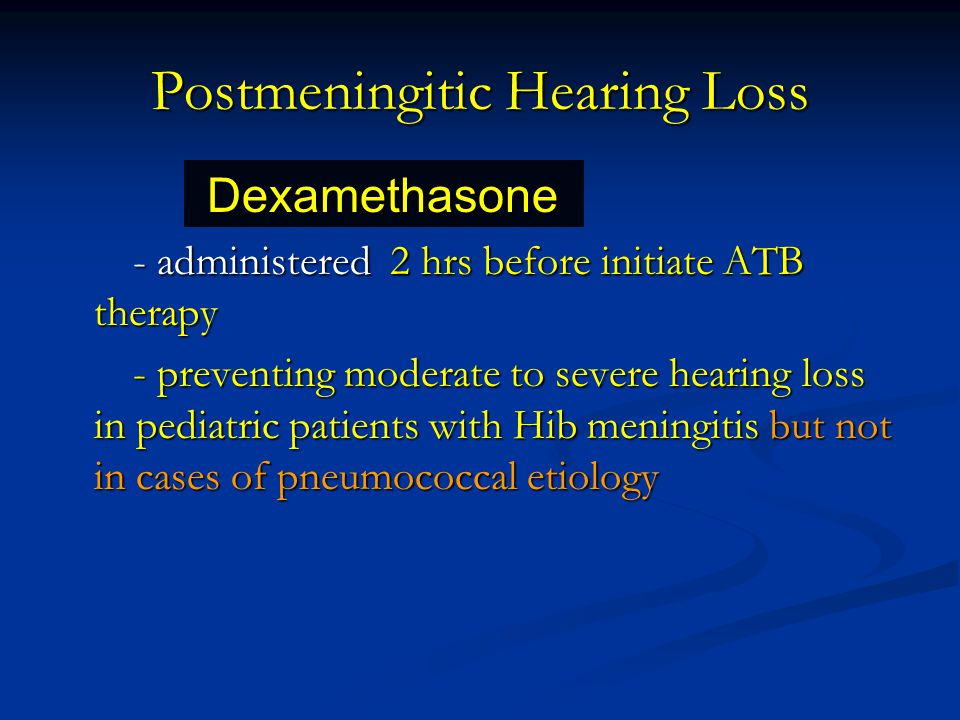 Postmeningitic Hearing Loss