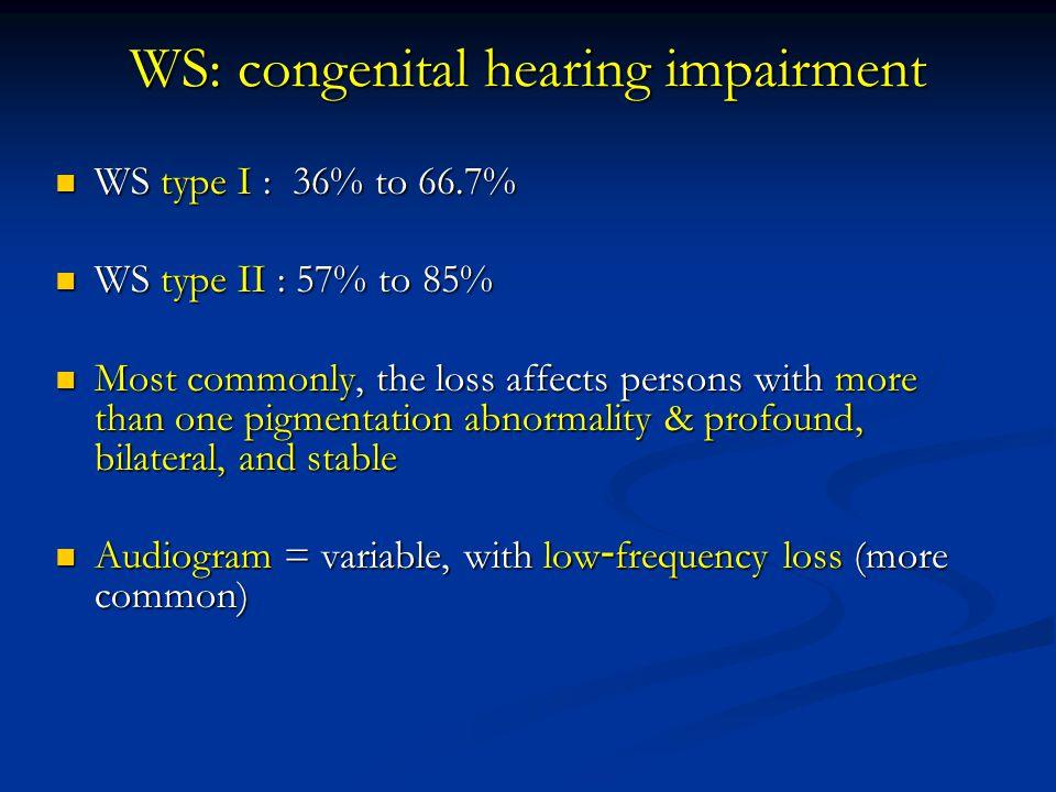 WS: congenital hearing impairment