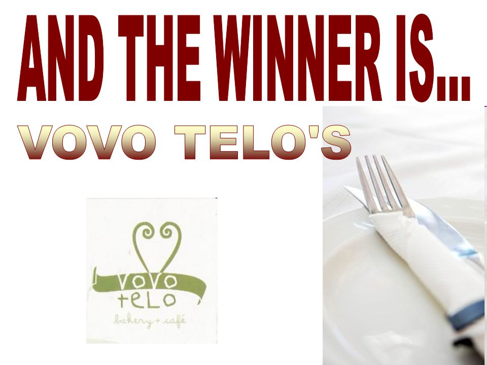 AND THE WINNER IS... VOVO TELO S