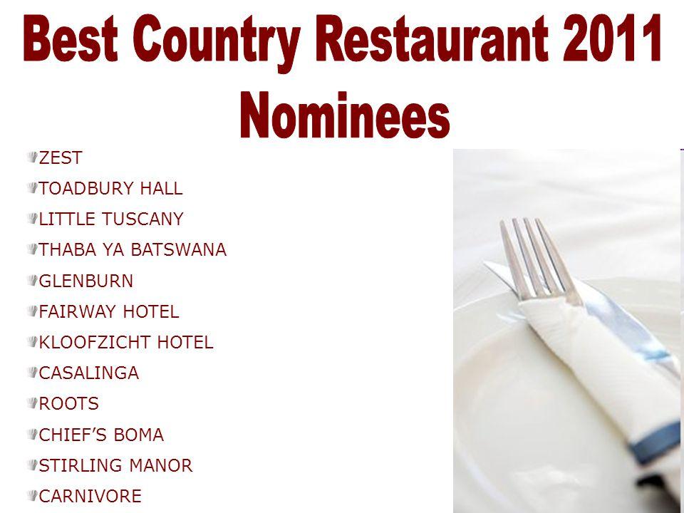Best Country Restaurant 2011