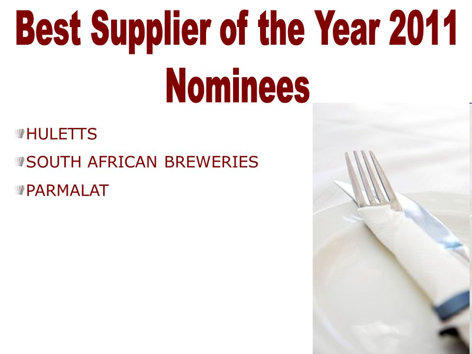 Best Supplier of the Year 2011