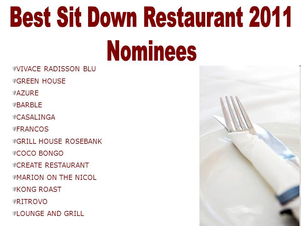 Best Sit Down Restaurant 2011