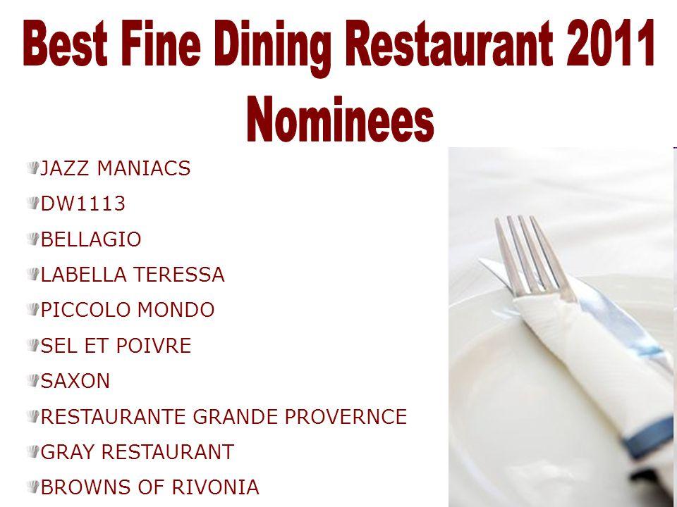 Best Fine Dining Restaurant 2011