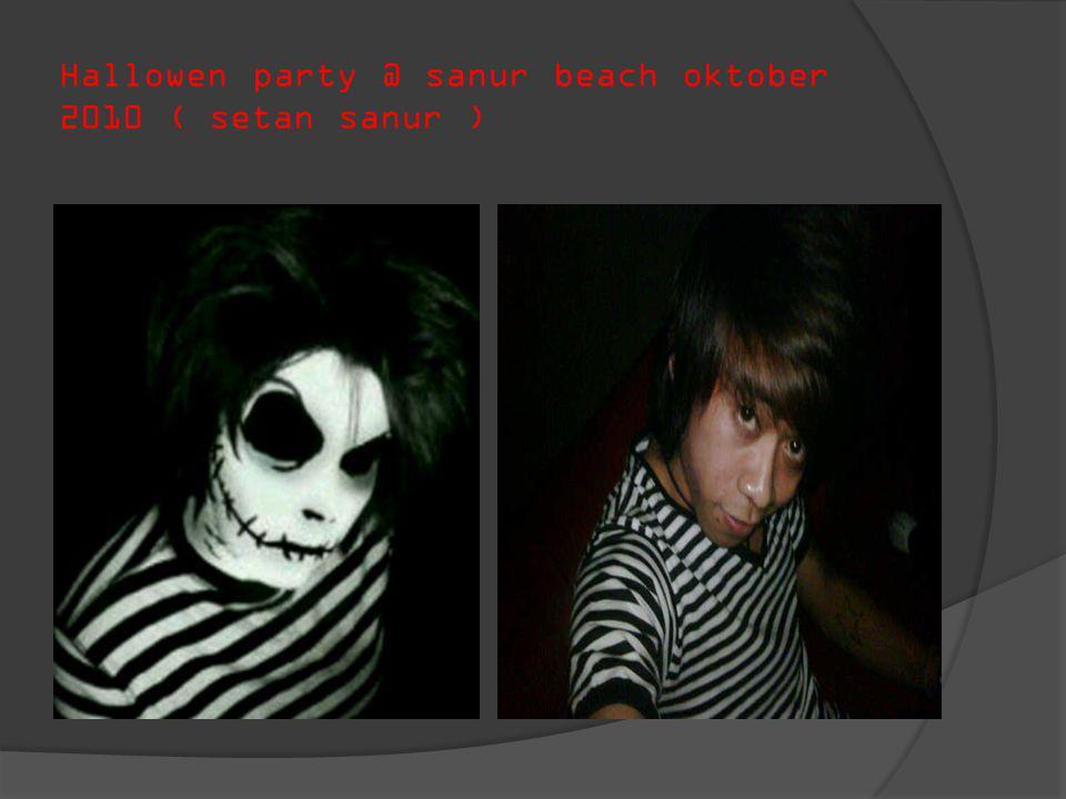Hallowen party @ sanur beach oktober 2010 ( setan sanur )