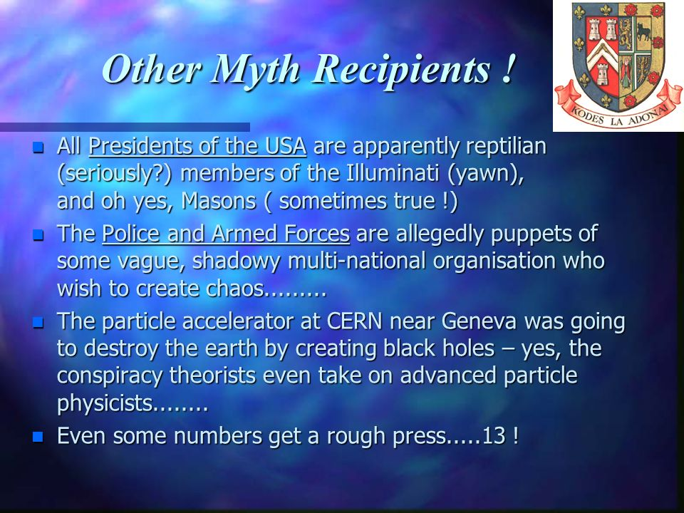 Other Myth Recipients !