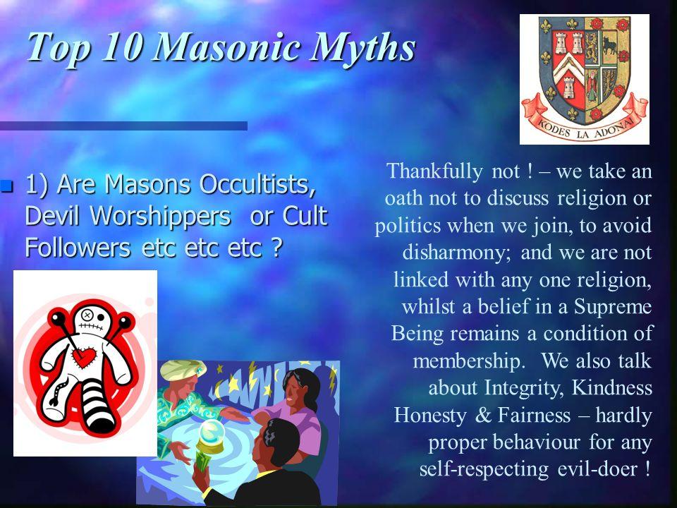 Top 10 Masonic Myths
