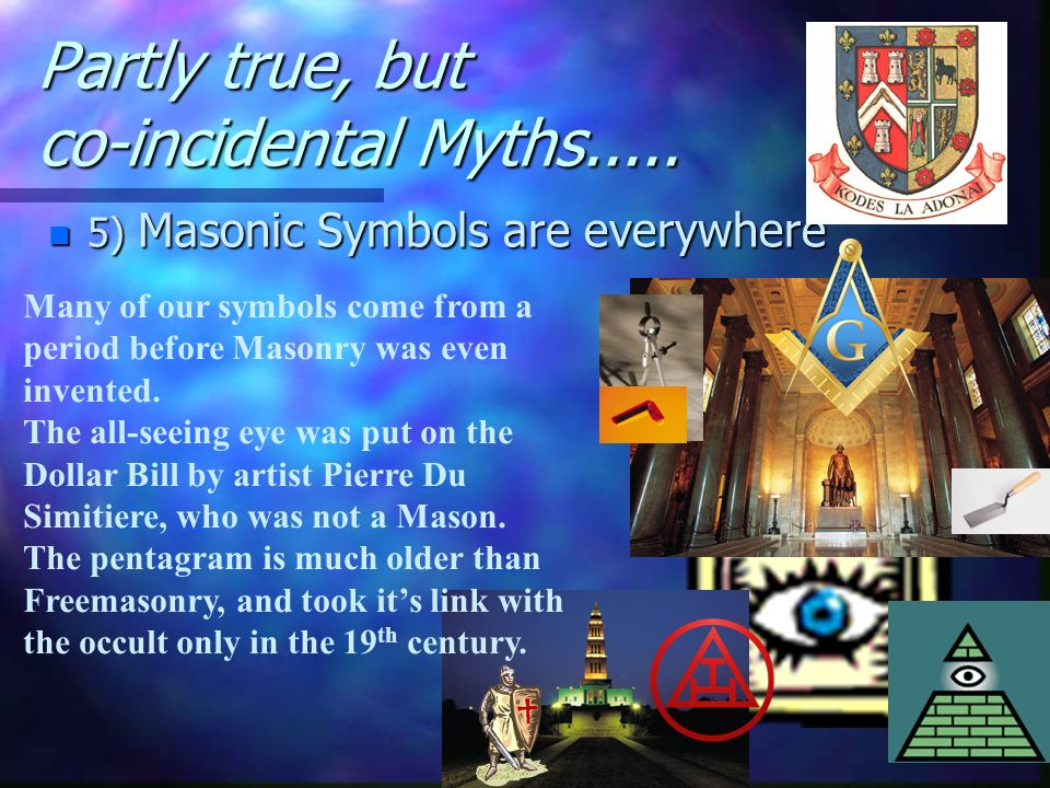 Partly true, but co-incidental Myths.....