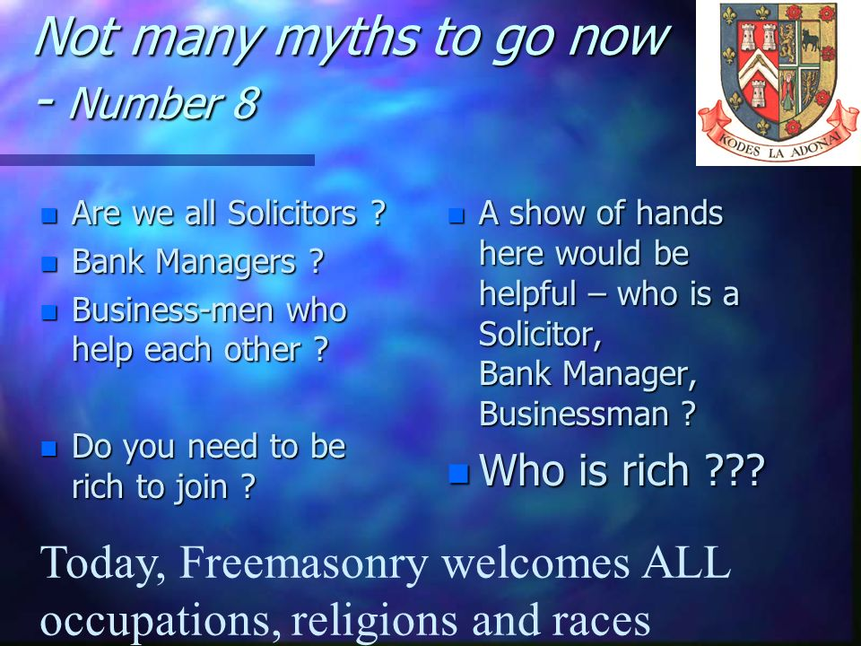 Not many myths to go now - Number 8