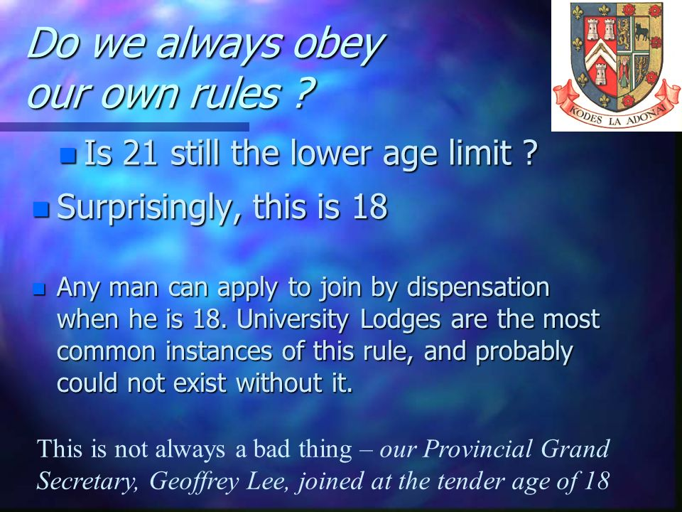 Do we always obey our own rules