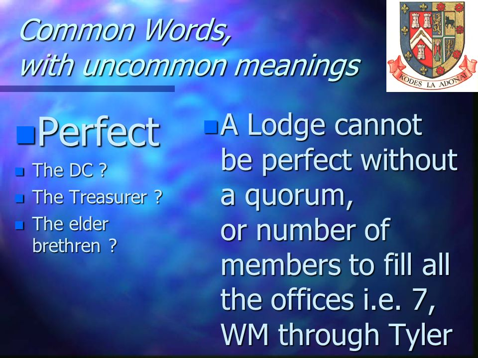 Common Words, with uncommon meanings
