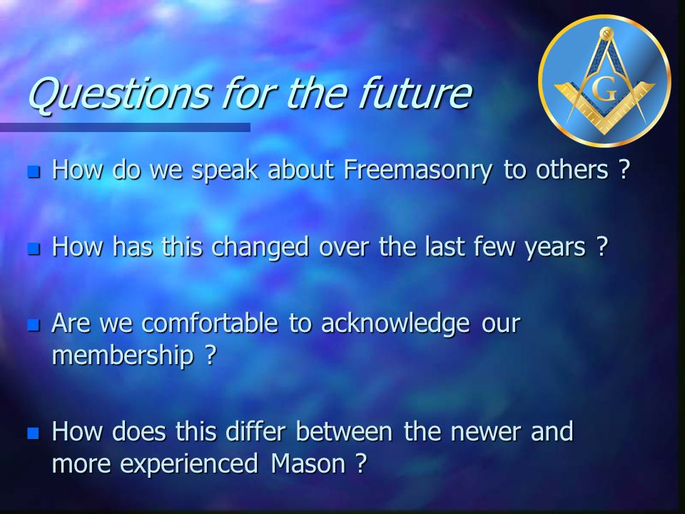 Questions for the future