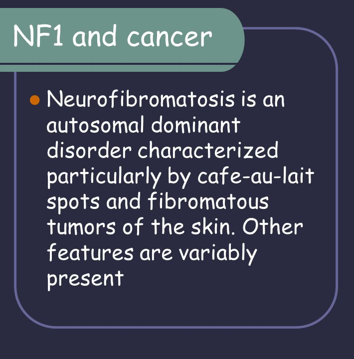 NF1 and cancer