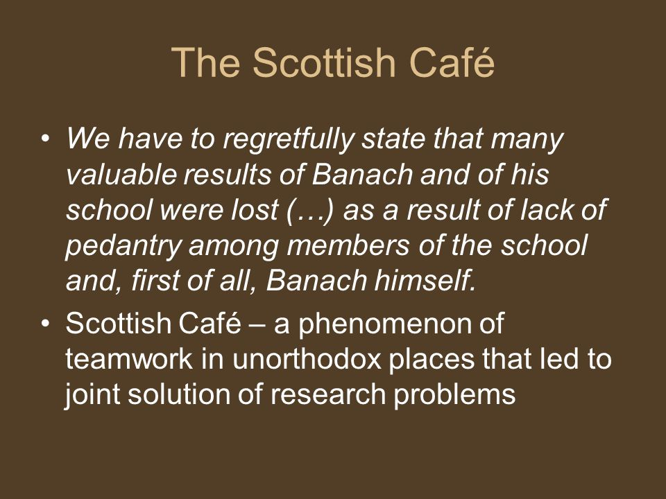 The Scottish Café
