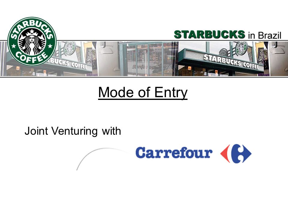 Mode of Entry Joint Venturing with