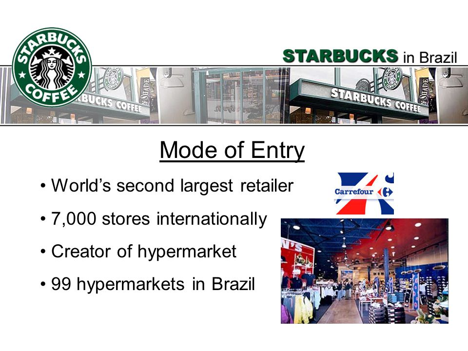 Mode of Entry World's second largest retailer