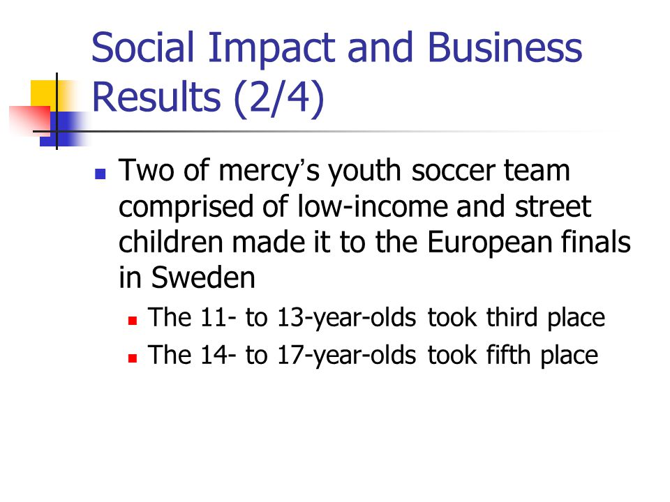 Social Impact and Business Results (2/4)