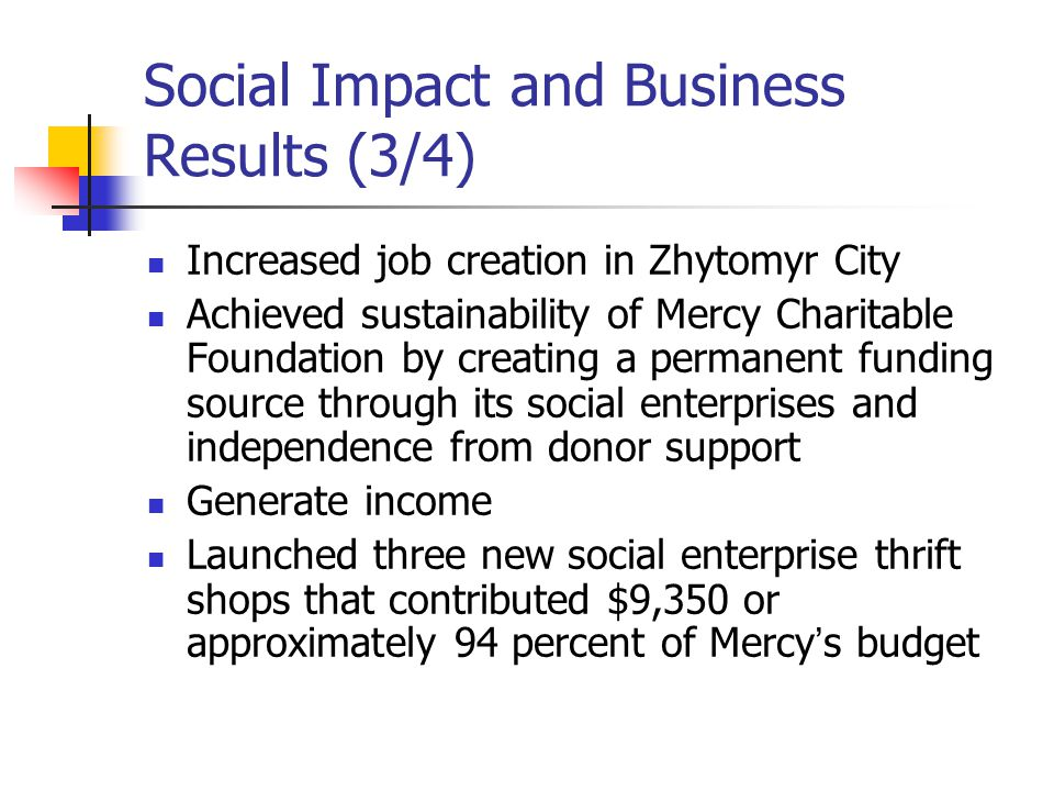 Social Impact and Business Results (3/4)