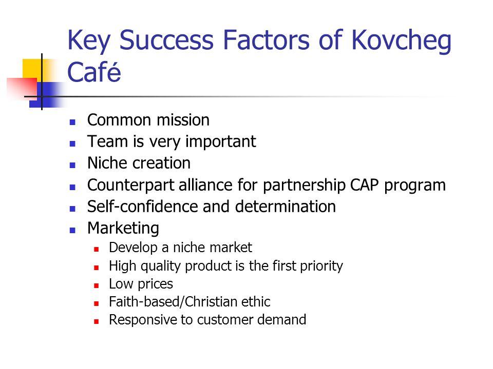 Key Success Factors of Kovcheg Café