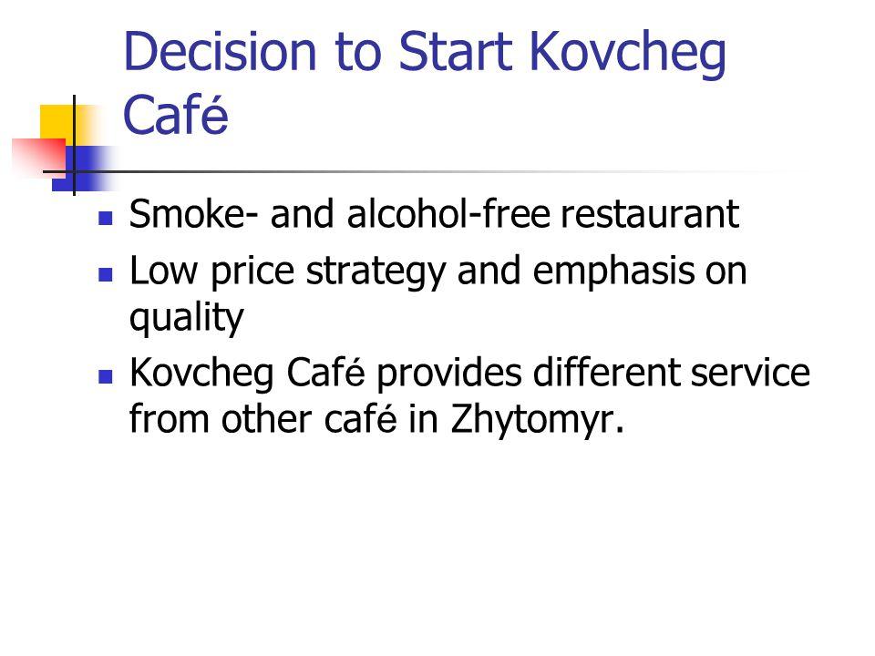 Decision to Start Kovcheg Café