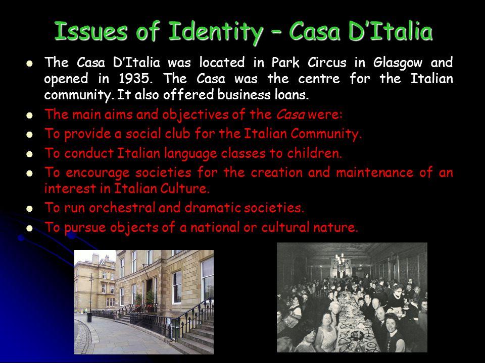 Issues of Identity – Casa D'Italia