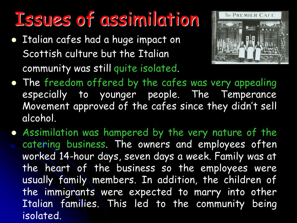Issues of assimilation