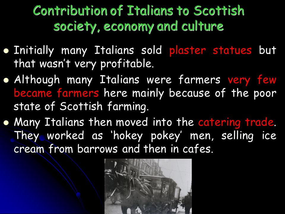 Contribution of Italians to Scottish society, economy and culture
