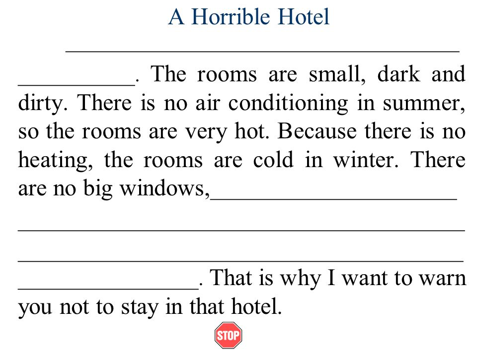 A Horrible Hotel