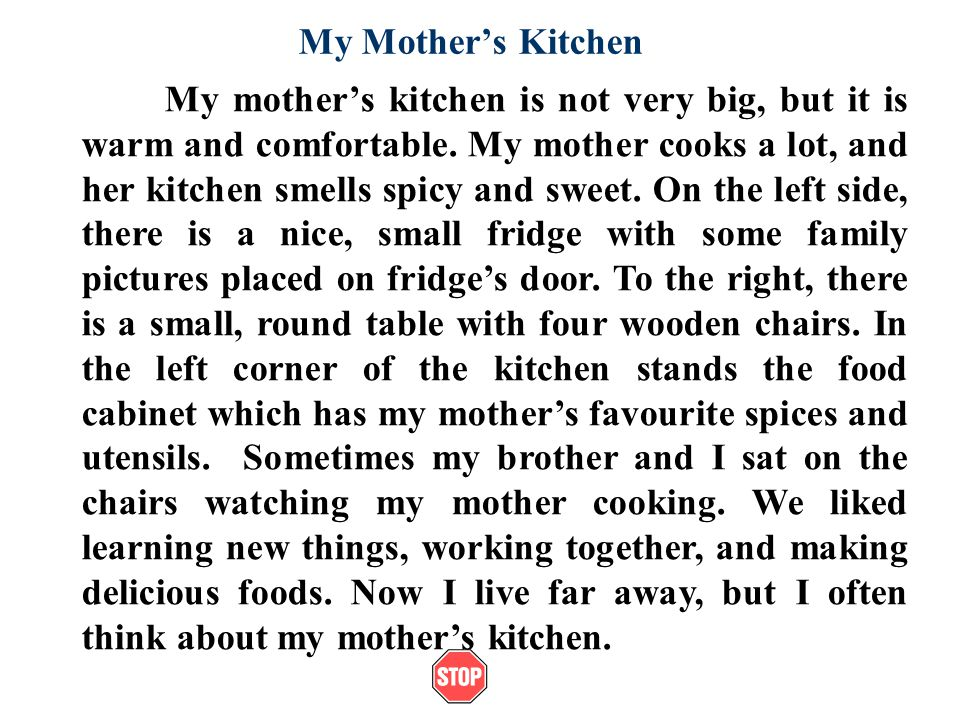 My Mother's Kitchen