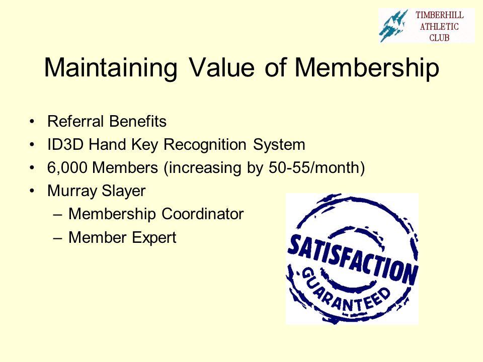 Maintaining Value of Membership