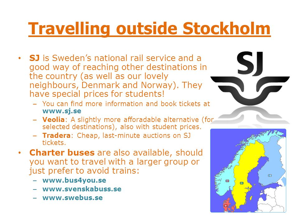 Travelling outside Stockholm