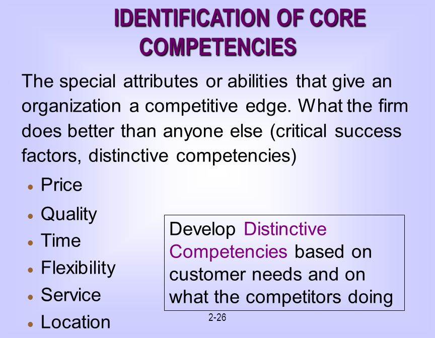 does the panera bread company have any core competencies or distinctive competencies