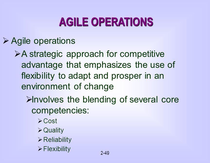 AGILE OPERATIONS Agile operations