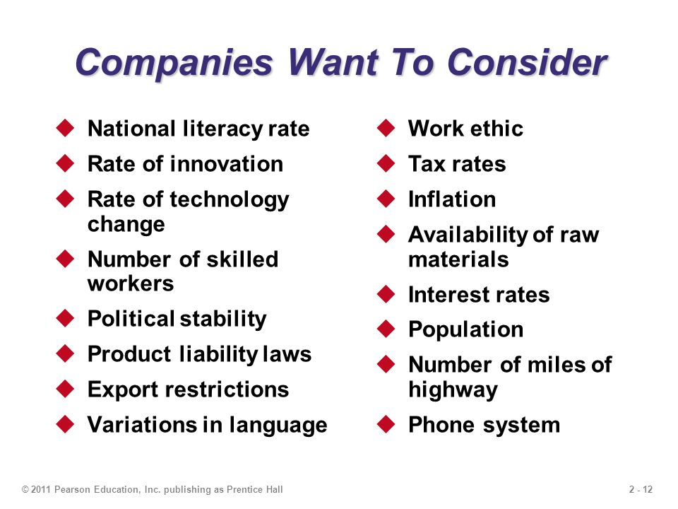 Companies Want To Consider