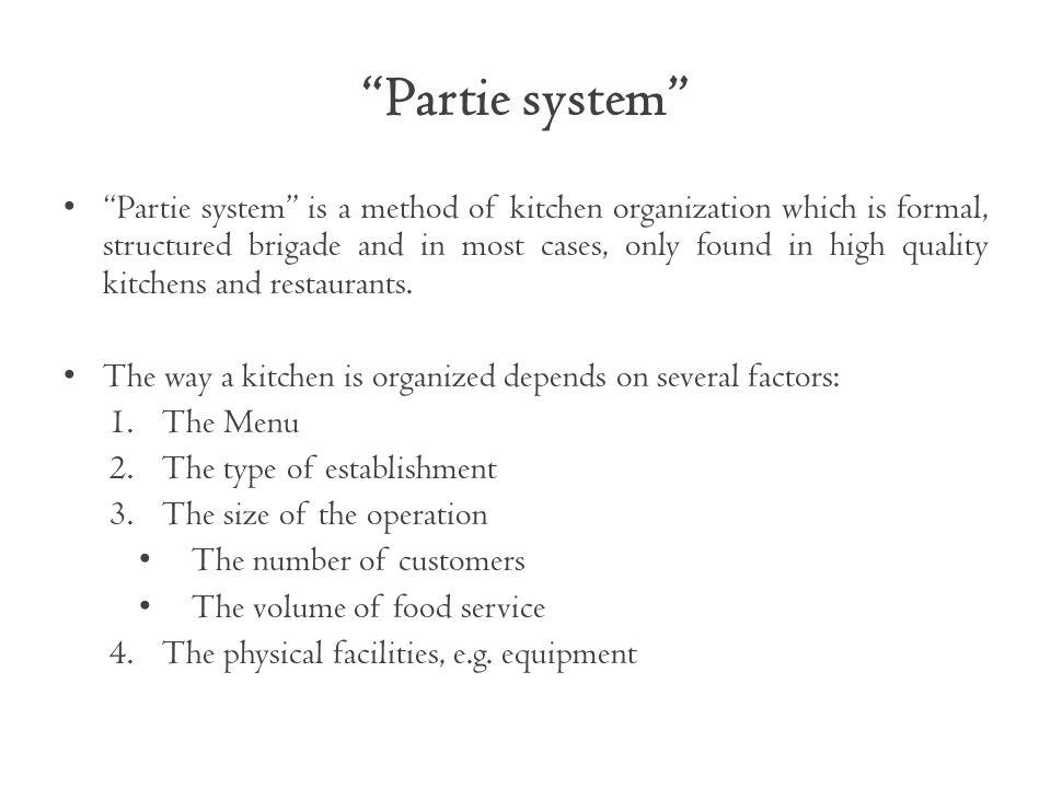 Partie system