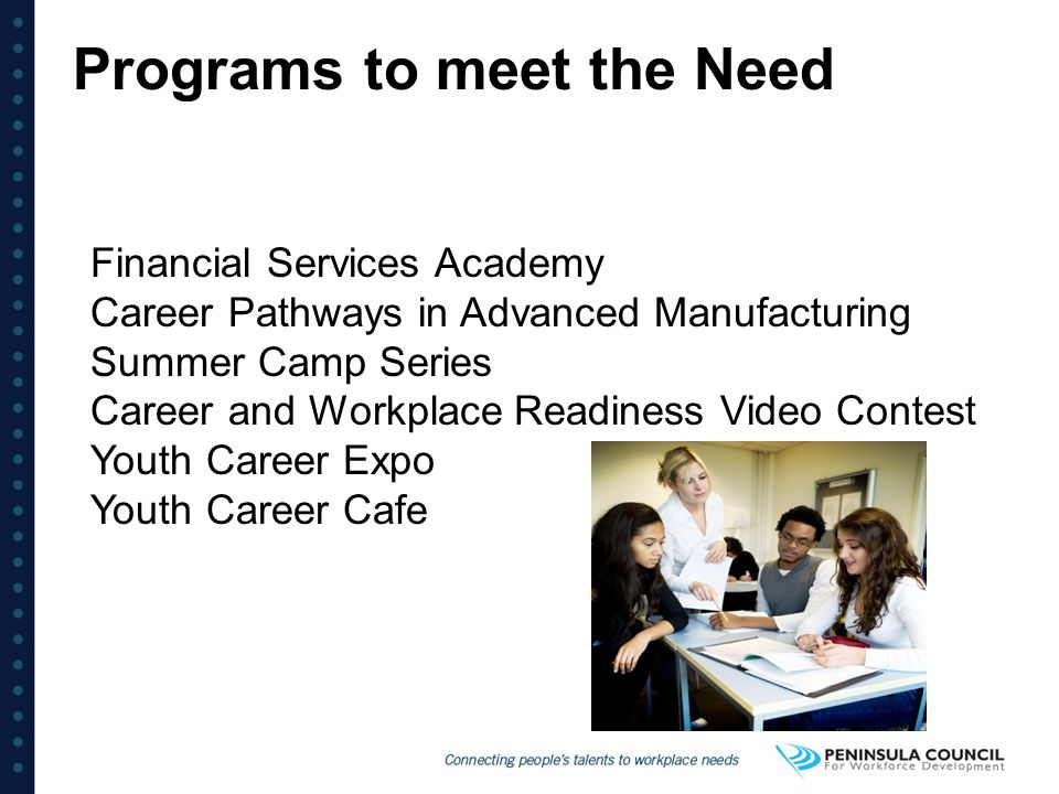 Programs to meet the Need