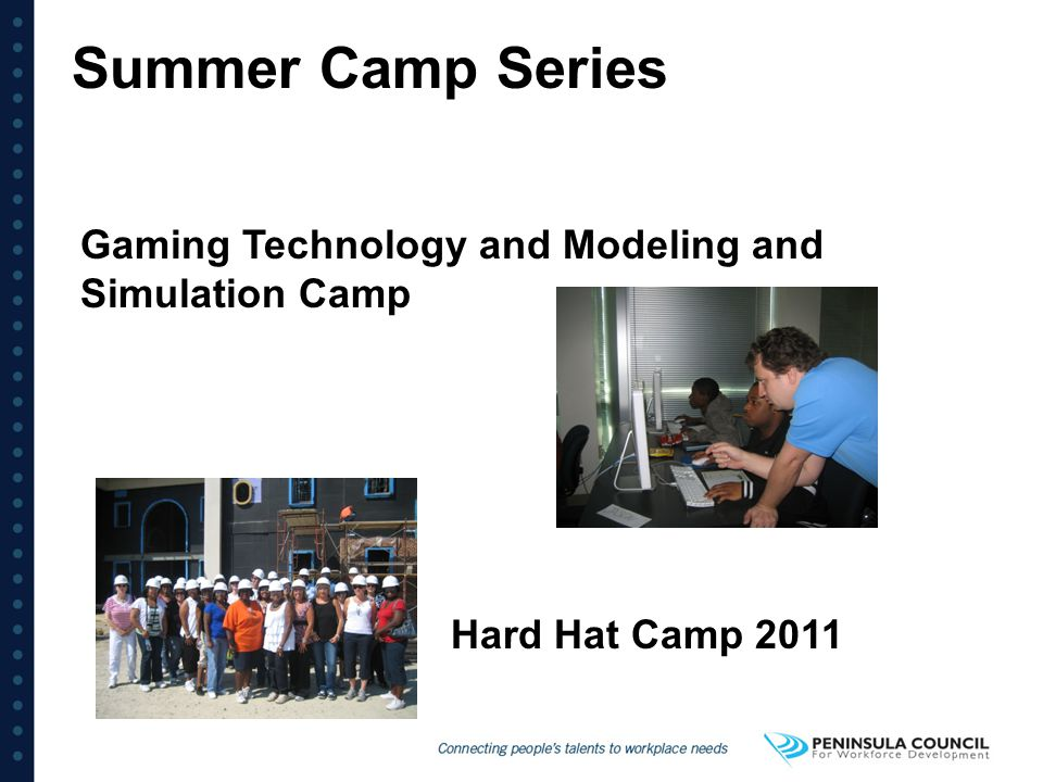 Summer Camp Series Gaming Technology and Modeling and Simulation Camp