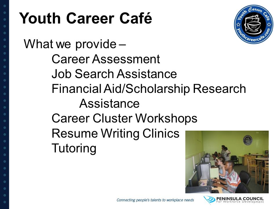 Youth Career Café What we provide – Career Assessment