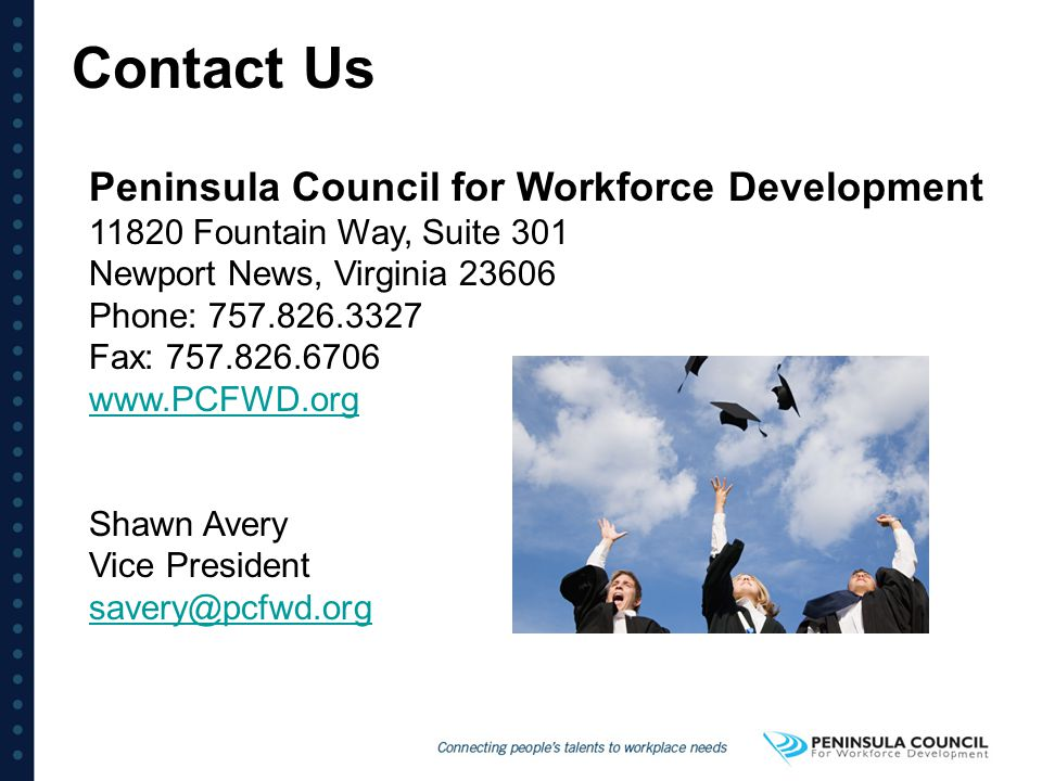 Contact Us Peninsula Council for Workforce Development