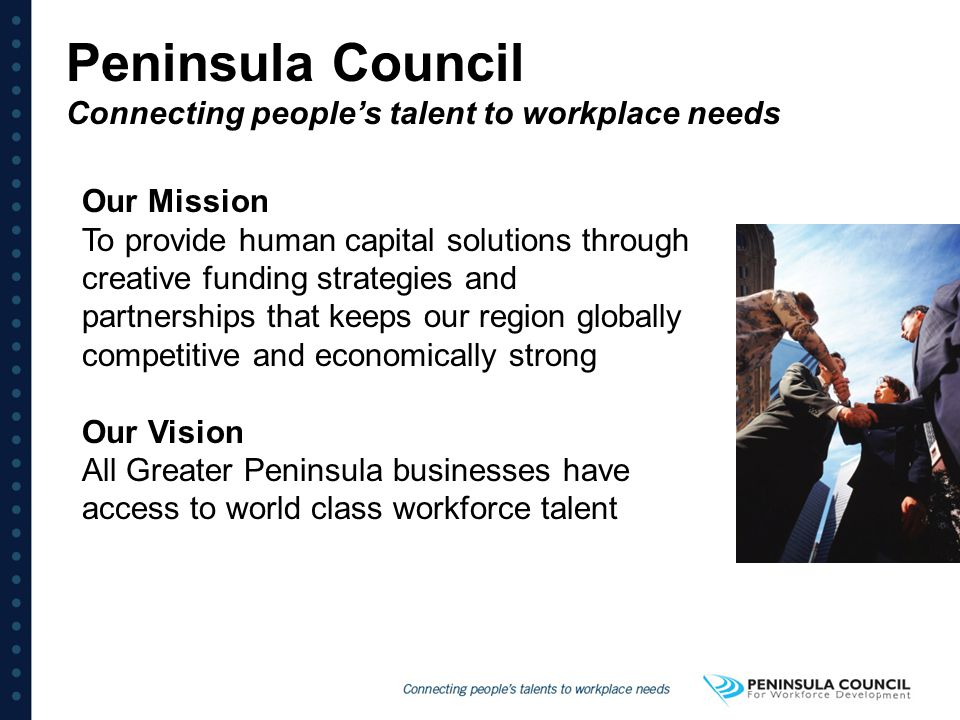 Peninsula Council Connecting people's talent to workplace needs