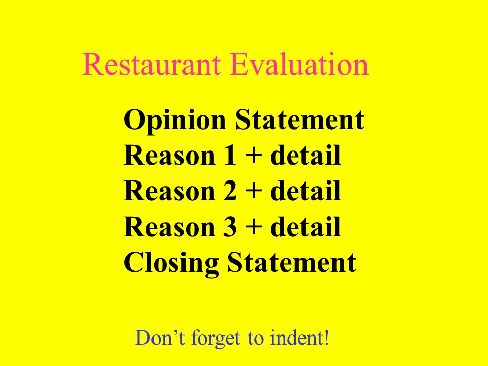 restaurant evaluation Restaurant selection criteria: understanding the roles of restaurant type and customers' sociodemographic characteristics soyeon kim department of consumer sciences ohio state university.