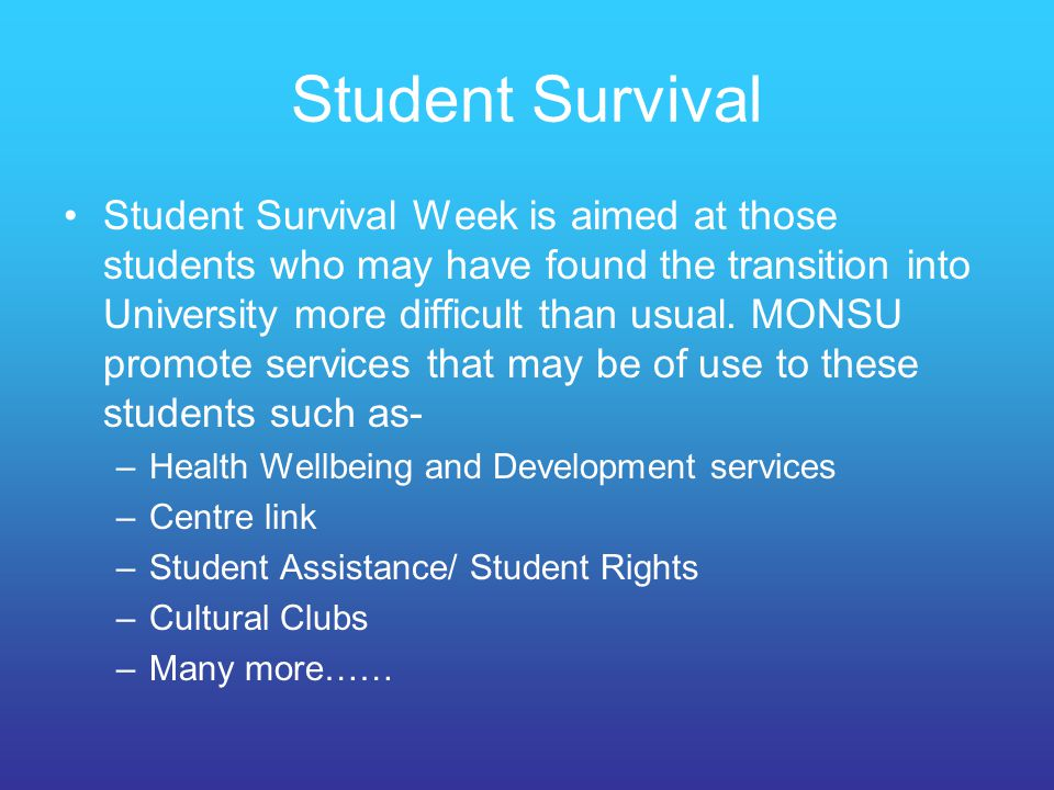 Student Survival