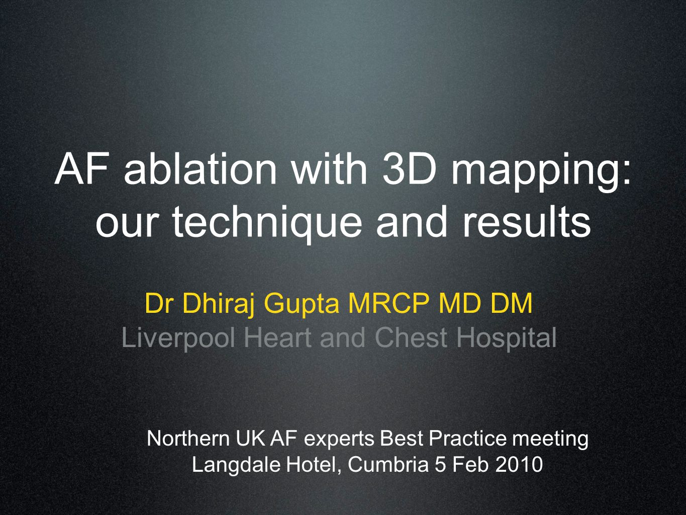 AF ablation with 3D mapping: our technique and results