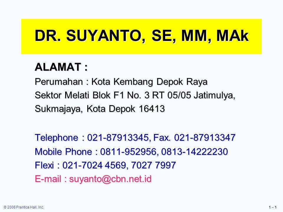 DR. SUYANTO, SE, MM, MAk ALAMAT :