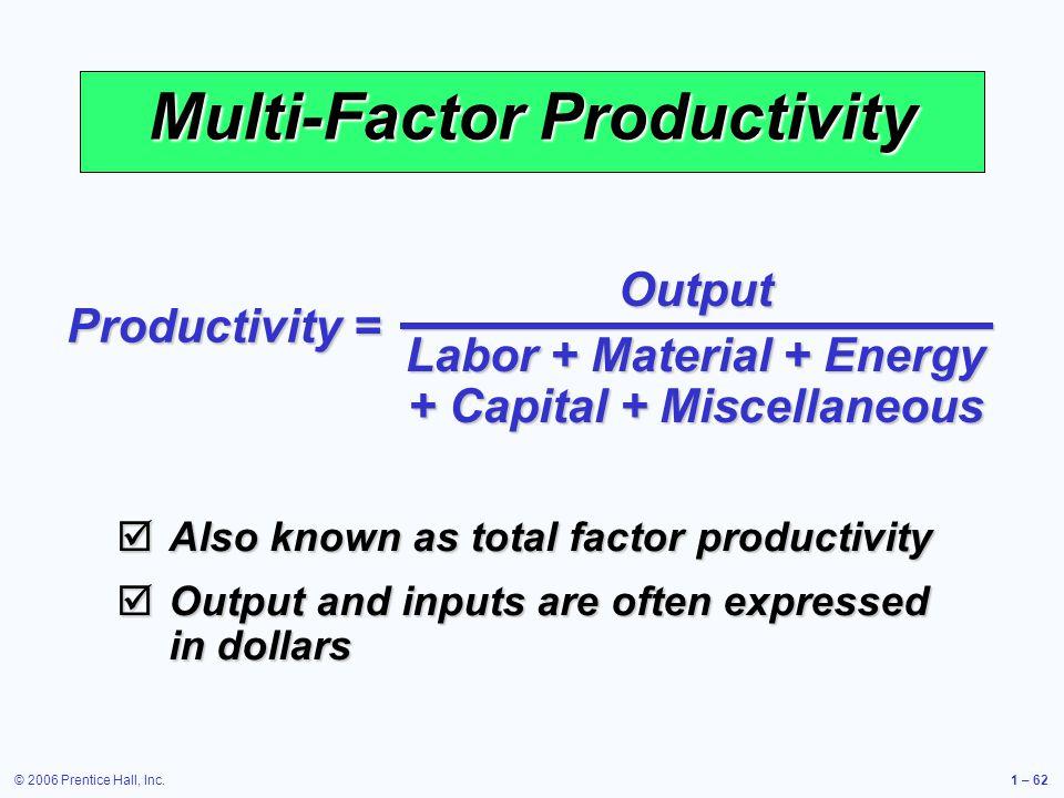 Multi-Factor Productivity