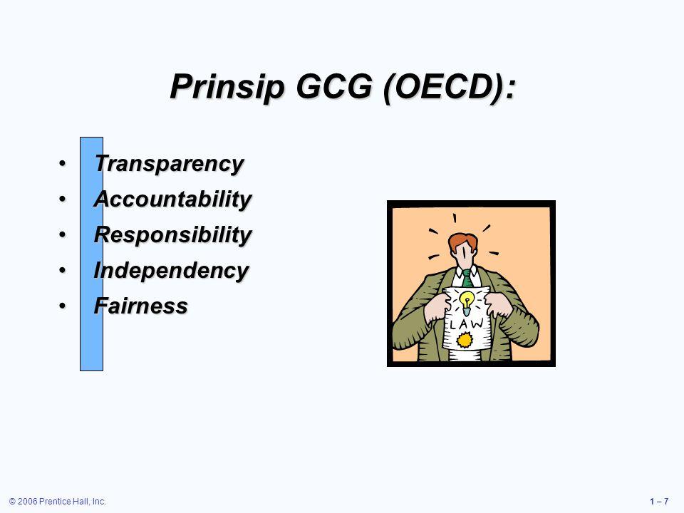 Prinsip GCG (OECD): Transparency Accountability Responsibility