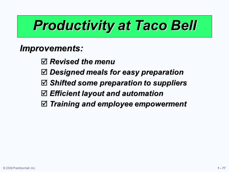 Productivity at Taco Bell