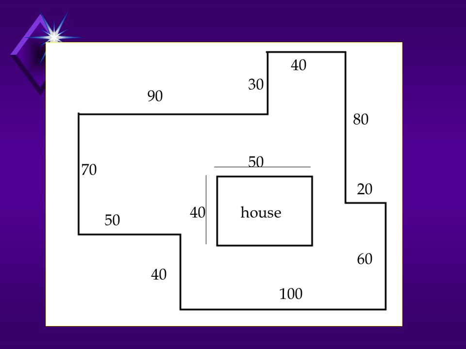 40 30 90 80 50 70 20 40 house 50 60 40 100